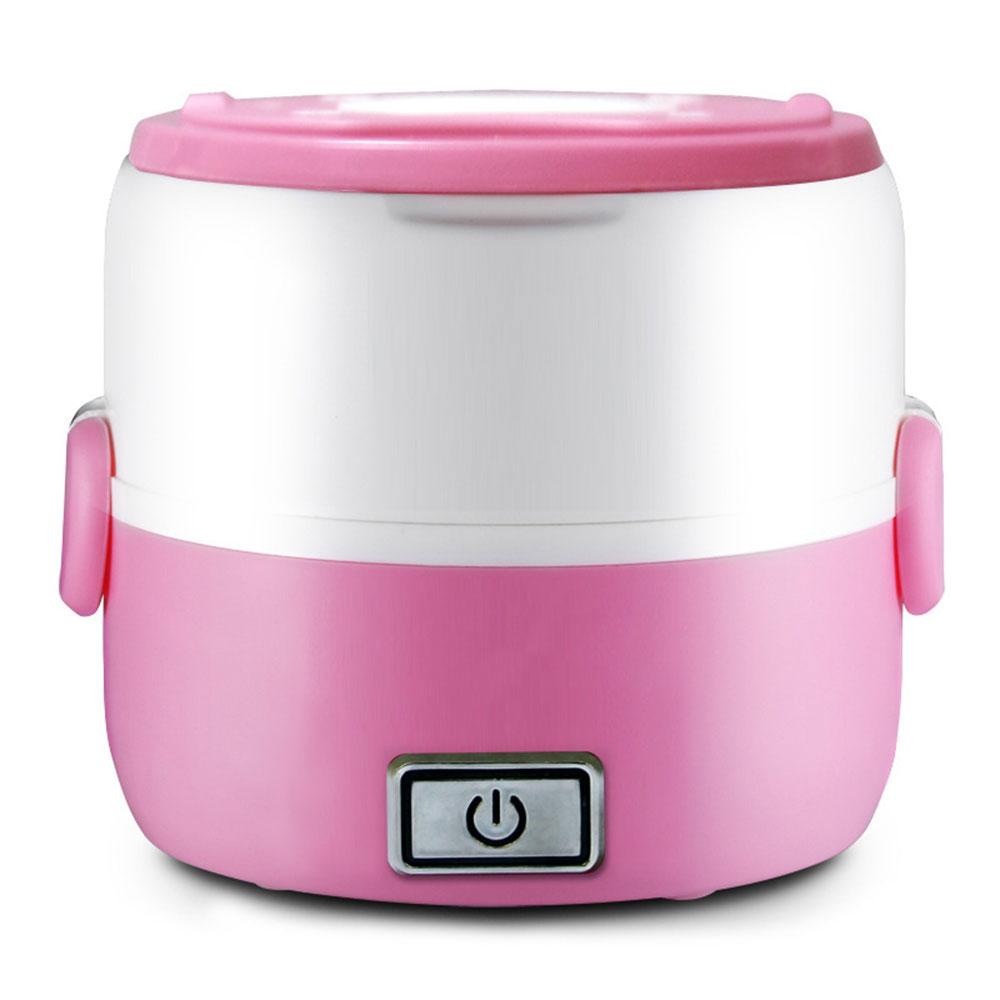 Мини рисоварка Отопление Ланч Бокс электрическая плита кухня Отопление еда Портативный 2-3 слоя многофункциональный - Цвет: 2 Layers