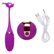 Ataullah Vibrator Vibrating Egg Wireless Remote Control Sex Toys for Women Exercise Vaginal Multispeed USB Rechargeable ST020