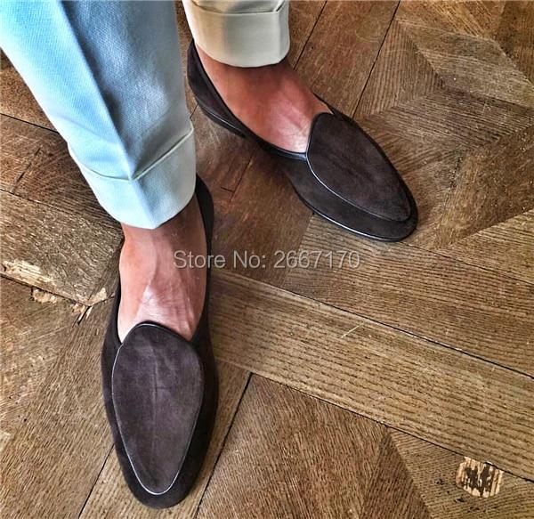 Negro Casual Hombre Pic Barco Más Caminar Los En Calzado Pic Tamaño Mocasines Conducción Brown Zapatos Suede as Deslizamiento Hombres Planos Transpirable As E5qgndq1O