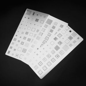 Image 3 - High Quality 3pcs universal BGA Stencils for MTK Samsung HTC Huawei Android Directly Heated BGA Reballing Stencils Kit