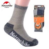 Naturehike nh15a006-w meias de lã no inverno para adultos homens e mulheres ao ar livre tênis para caminhada esportes terry