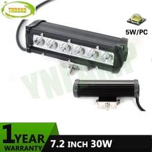 YNROAD 12pcs7.2inch 30w single row Led Light Bar Driving Offroad Light 10V- 30V 2100LM for 4×4 ATV UTV TRUCK 4WD