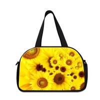 Flower Shoulder Medium Sized Gym Bags For Women Floral Best Ladies Gym Bag Girls Sporty Bags