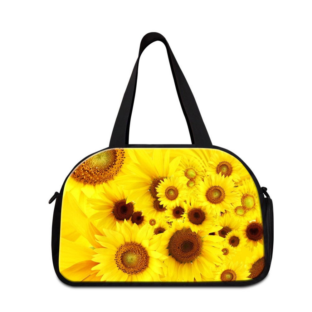 Flower Shoulder medium sized travel bags for Women Floral best ladies tote duffle bag girls sporty bags good tote travel bags