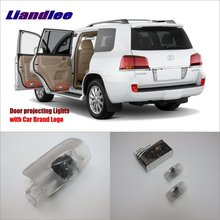 Liandlee Car Door Ghost Shadow Lights For Lexus LX 2009~2014 Courtesy Doors Lamp / Brand Logo LED Projector Welcome Light liandlee car door ghost shadow lights for acura mdx acura zdx courtesy doors lamp brand logo led projector welcome light