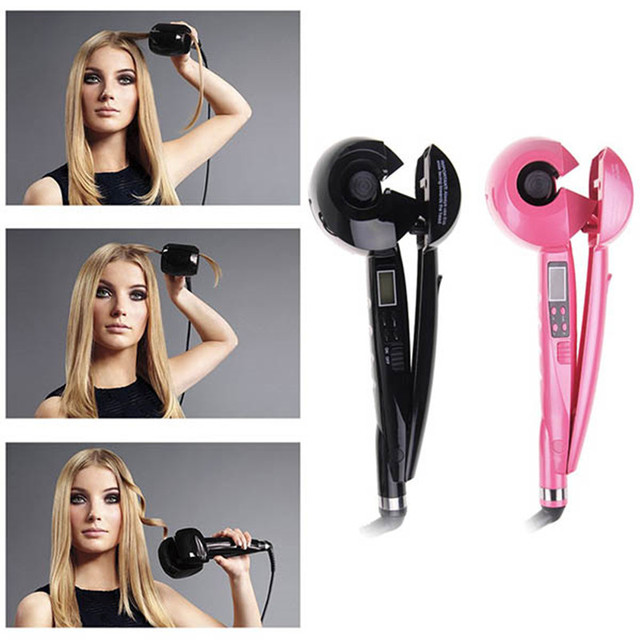 Pro Automatic Titanium Hair Curler Hair Hair Styler Tools Turling Iron Voltage With LCD Screen Display EU US AU UK Plug