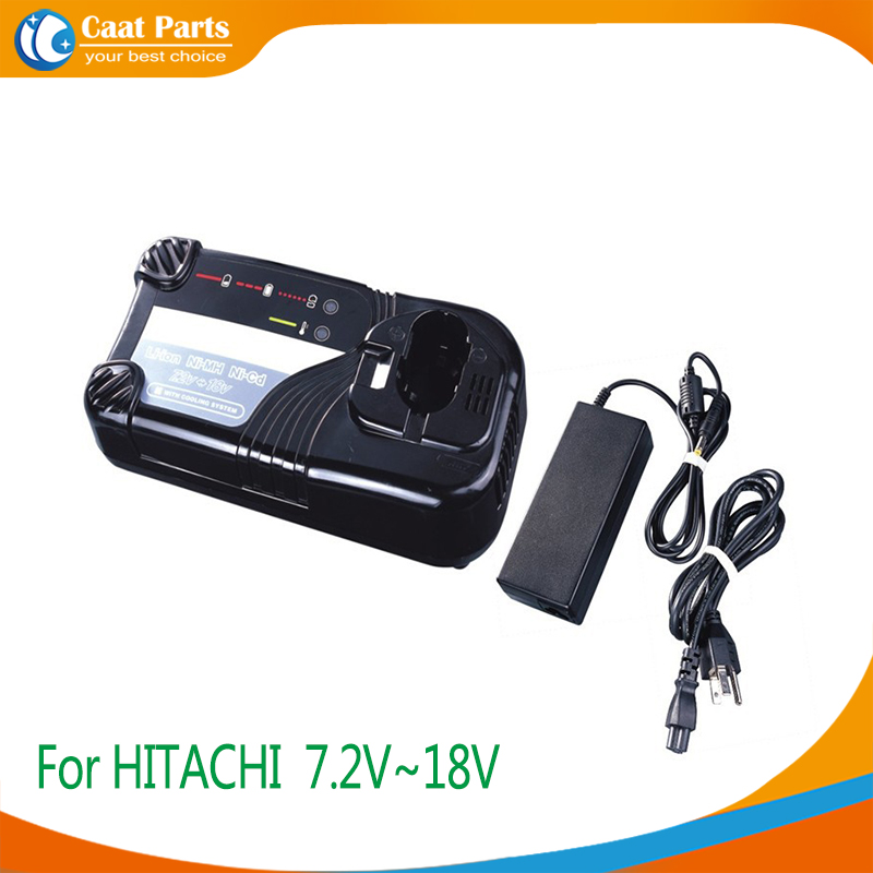 Power Tool Battery Chargers for Hitachi 7.2V-18V Ni-CD, Ni-MH and Li-ion battery, Including external adaptor as power supply eleoption 2pcs 18v 3000mah li ion power tools battery for hitachi drill bcl1815 bcl1830 ebm1830 327730