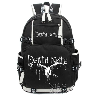 Hot Anime Death Note Backpack Cosplay Light Yagami Luminous Canvas Bag Schoolbag Travel Bags anime tokyo ghoul dark in light luminous satchel backpack schoolbag shoulder bag boys gilrs cosplay gifts