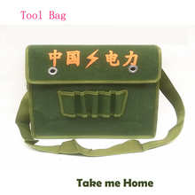 Quality Big Size 400x320mm Multifunctional Canvas Hand-cut Sailcloth kit Bag Repair electrician kit single shoulder Tool bags as the extension kit 20 inch multifunctional large thick canvas shoulder bag hardware woodworking electrician kit