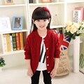 Nova Brandgirl Camisola 100% Do Bebê Do Algodão Camisola Roupas Com Decote Em V Polo Camisolas das Crianças Crianças de Alta Qualidade Outerwear Camisola Menina