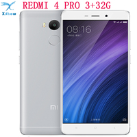original Xiaomi Redmi 4 PRO  redmi 4 4100mAh Battery Fingerprint ID Snapdragon 625 Octa Core 5