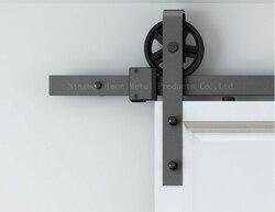 Frete grátis Dimon venda quente de madeira pesada porta de correr hardware DM-SDU 7210 sem pista de deslizamento