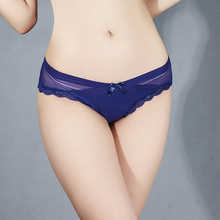 2017 Summer Sexy Women Thong Seamless Underwear Briefs New Panties Transparent Mesh Cross Lace Sexy Lingerie Female Underpants