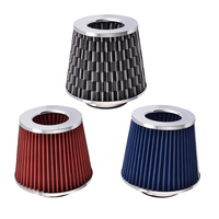 Car Air Filter 75mm Inlet Air Intake Cone Cold Air Intake Performance Car Accessories 1 Pcs