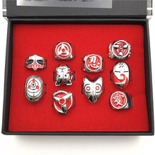 Naruto Vintage Alloy Rings 10pcs Set With Box