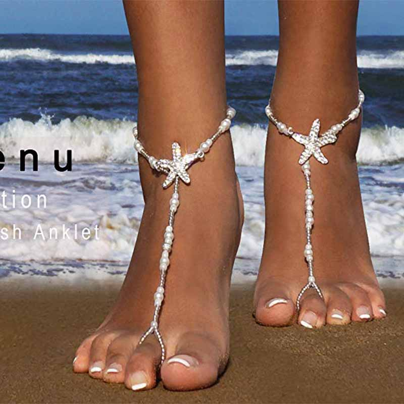 Starfish Barefoot Sandals Hair Clip Pool Beach Wedding Bachelorette Party Bridal Shower Bridesmaid Hawaiian Summer Decoration
