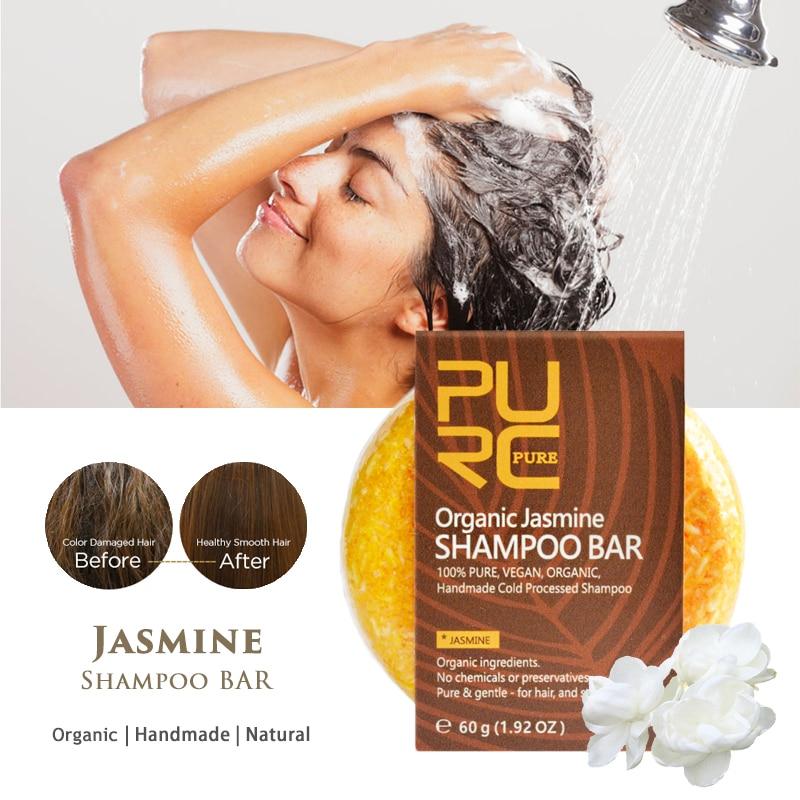 Jasmine Natural Shampoo Bar Soap Repair Damaged Hair Smoother Softer Handmade No Chemicals & Preservatives Hair Care