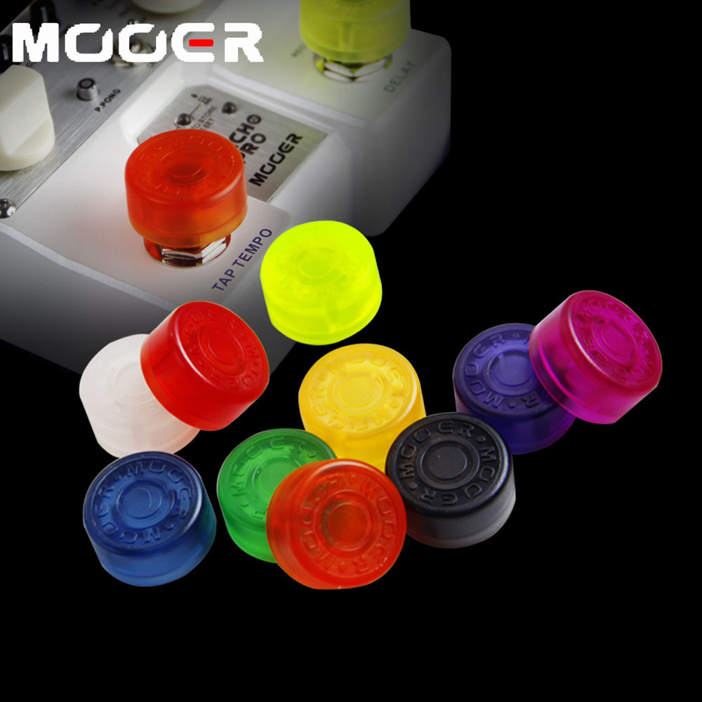 Mooer Candy Color Electric Guitar Pedal Foot Nail Cap FootSwitch Toppers Knob Accessories free shipping black acoustic guitar electric guitar feet accessories guitar foot pedal guitar parts