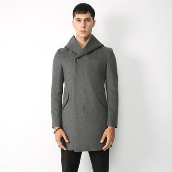 Hot 2020 winter new High quality woolen coat in the long men's wool jacket Korean version Slim hooded trend FashionTrench coat