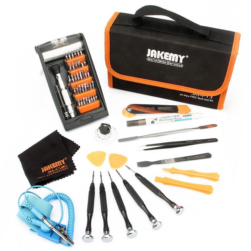 Jakemy 54 In 1 P13 Professional Repair Kit Tool Bag Aluminum Alloy Screwdriver Set Electrician Tool Organizer Storage Bag