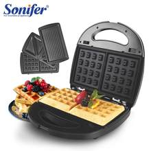220V 3 in 1 Electric Waffles Maker Electric Sandwich Iron Machine Bubble Egg Cake Oven Breakfast Machine Sonifer(China)