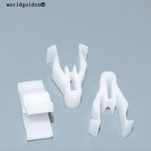 worldgolden 100pcs auto plastic fasteners Instrument Panel Retaining Clip for Mitsubishi MQ907568,Mazda S47P-64-345(S47P64345)