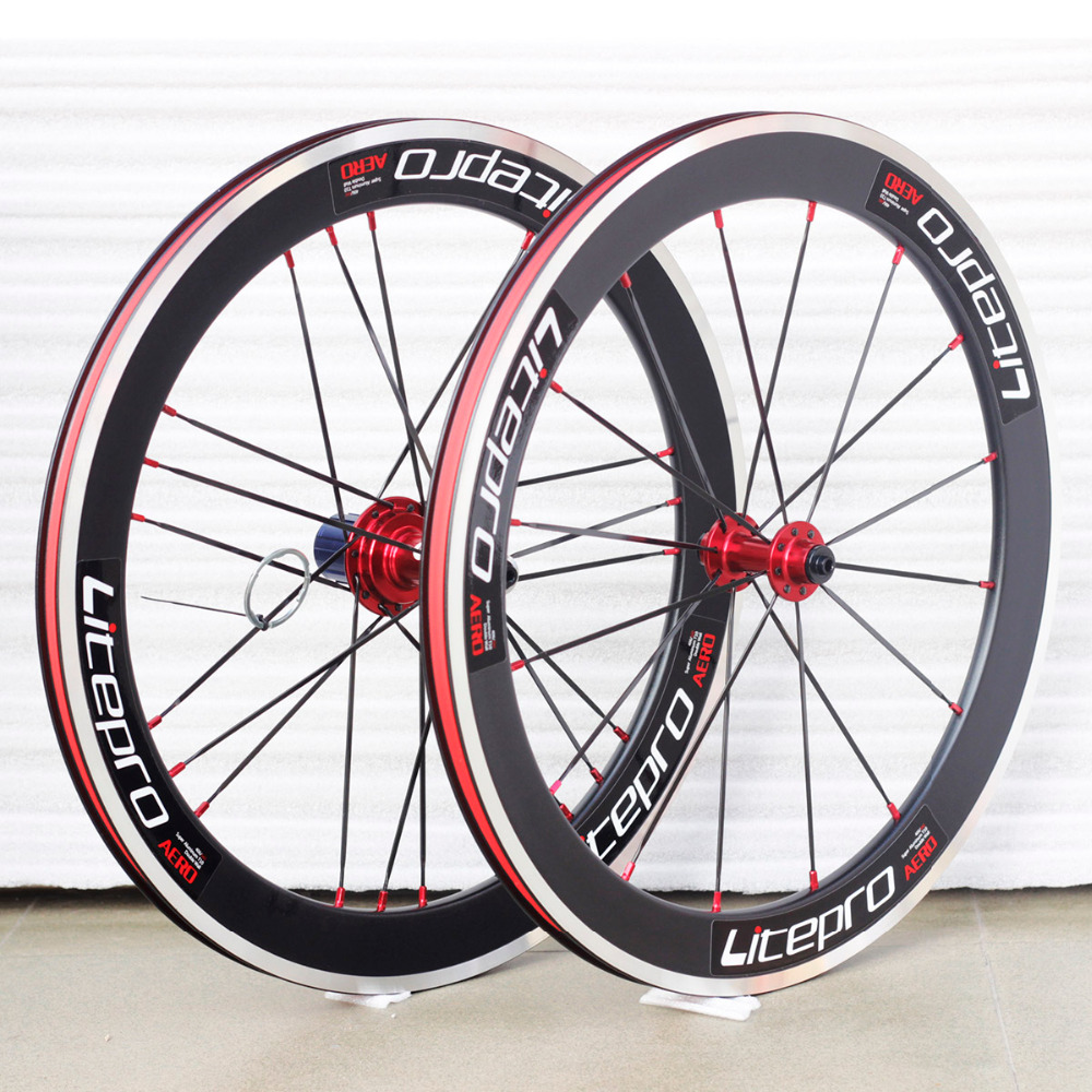 Litepro LP Elite S42 Wheels 20 406 Wheelsets Rims For Dahon sp8 vp18 JAVA Folding Bike Minivelo Bicycles titanium folding bike bicycle pedal axles spindles shafts 55g pair for crops vp one vp one vpone primary gold