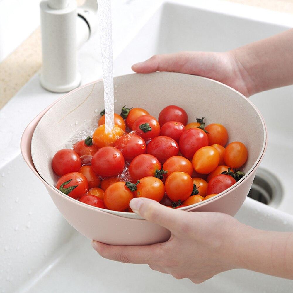 Многофункциональная двухслойная сливная корзина пластиковый фильтр для воды Фруктовая корзина для риса кухня Vegatable раковина для домашних принадлежностей