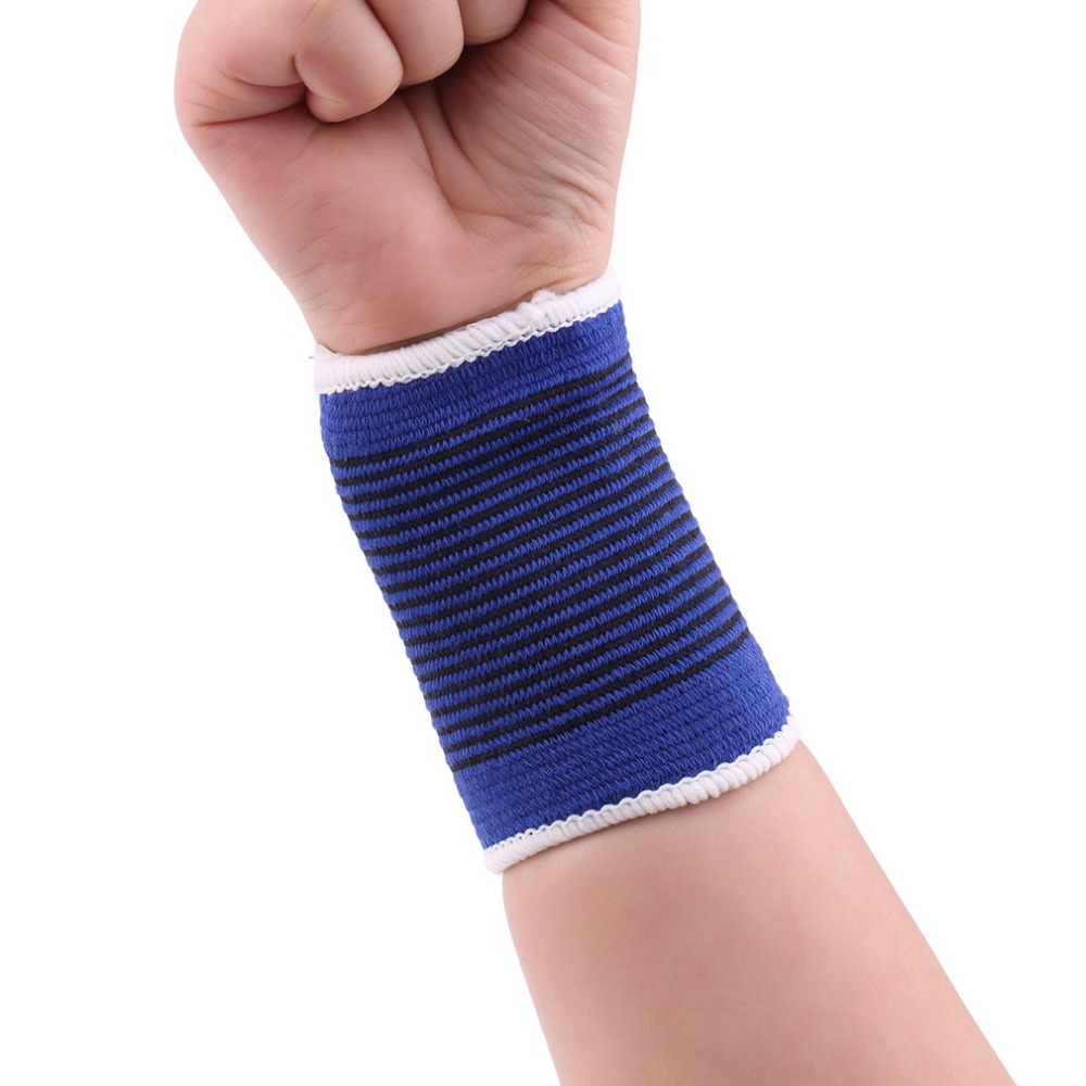 Top Quality 1 Pair Soft Elastic Breathable Wrist Support Brace Band Sleeve Sports Bandage Drop Shipping Wholesale