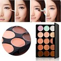 FREE SHIPPING New 15 Colors Professional Makeup Concealer Cream Cosmetic Palette + Mirror