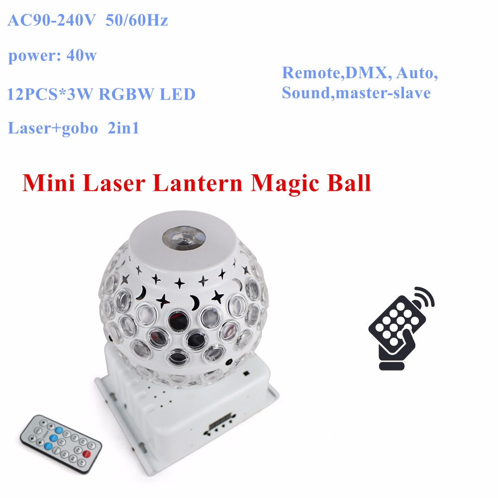 Remote Control 1Pack 8X3W RGBW Mini laserLantern Magic Ball Lights Perfect For Party Wedding Christmas Holiday Decoration the perfect holiday