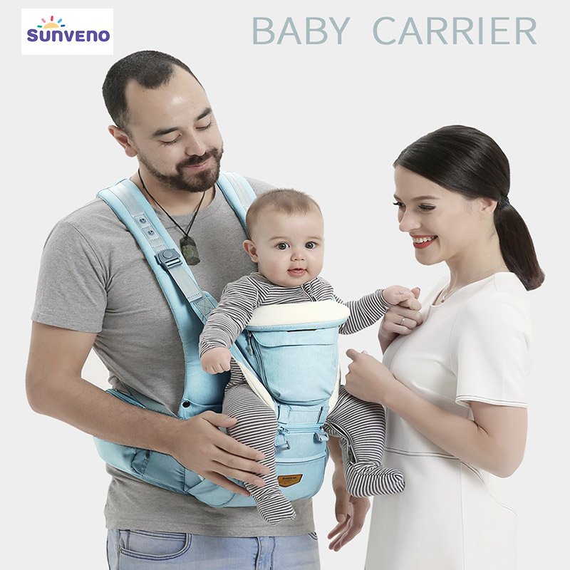 цена на Sunveno Ergonomic Baby Carrier baby wrap Front Carry Baby Sling Front Facing Kangaroo Carrier 0-36 Months Baby Travel backpack