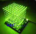 3D LightSquared DIY Kit 8x8x8 3mm LED Cube Green Ray LED