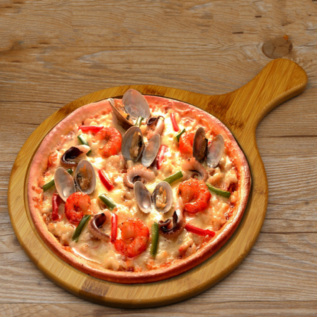 Fruit Tray Pizza Plate 7 -14  Inch Bamboo Wood Round Pizza Plate Healthy & Fruit Tray Pizza Plate 7