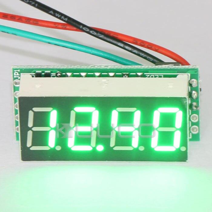 Digital Voltmeter DC 0 ~30.00V Green Led Display Voltage Meter DC 12V 24V Voltage Monitor for Motor /Motorcycle /Car/Battery etc