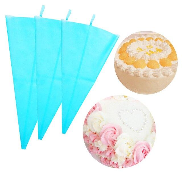 4 Kích Cỡ Piping Bag Pastry Bag Icing Ống Bánh Cupcake Công Cụ trang trí Túi Bánh Công Cụ Silicone Icing Piping Cream Pastry túi