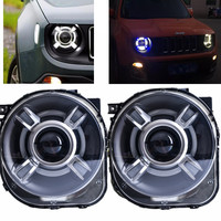 LED HID Headlight Projector With DRL Bi Xenon Lens For 2015 2016 2017 JEEp Renegade Xenon