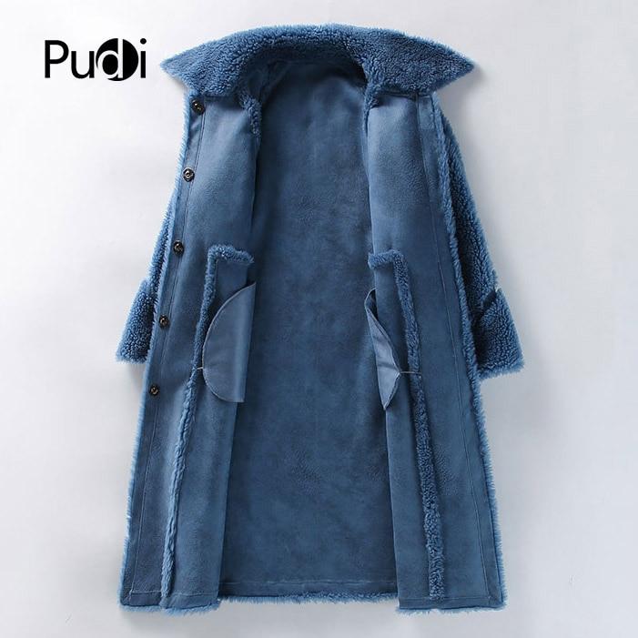 Veste Hiver Pudi Véritable khaki Femmes Loisirs Manteau Fille Gilet Réel De Chaud Blue B181124 Dame Laine Pardessus 04q1R4xU