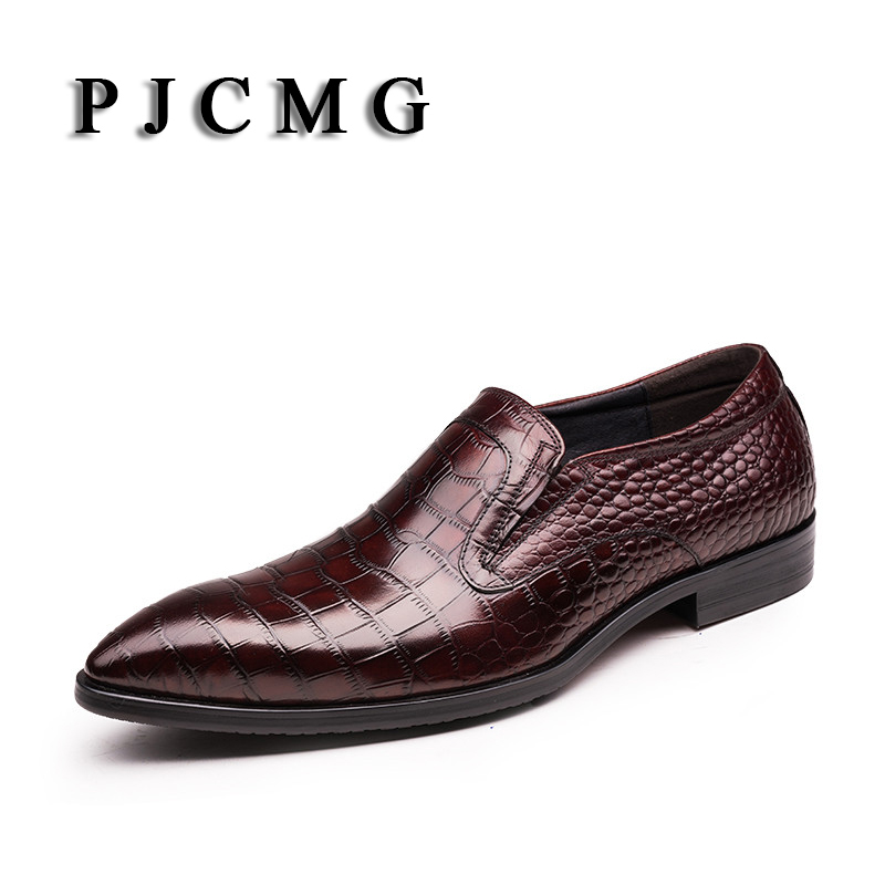 PJCMG Genuine Leather Men Shoes Italy Brand Lace-up Sapatilha Top Quality Hombre Business Moccasins Dress Chaussure Homme italy brand women by common projects black low shoes men genuine leather sheepskin casual shoes chaussure femme homme scarpe