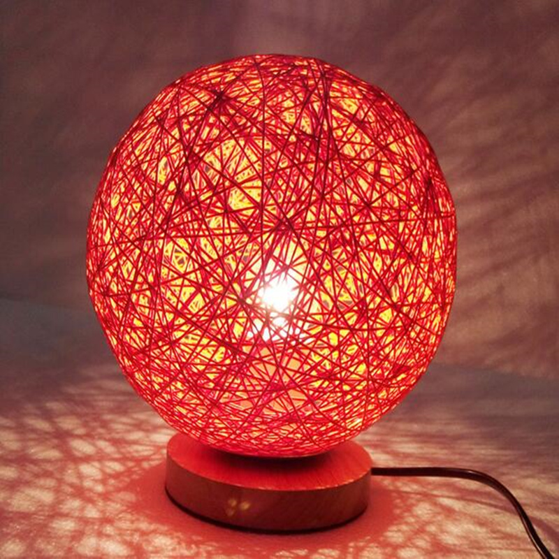 Round 220v rattan ball design takraw night light table lamp hallway round 220v rattan ball design takraw night light table lamp hallway bedside wall light for home decoration in led table lamps from lights lighting on aloadofball Gallery