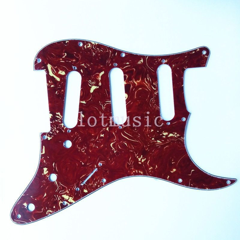 8pcs 3 Ply Tortoise Guitar Pickguard for Fender strat replacement New 4pcs new quality guitar pickguard sss yellow pearl 11 hole for electric strat replacement