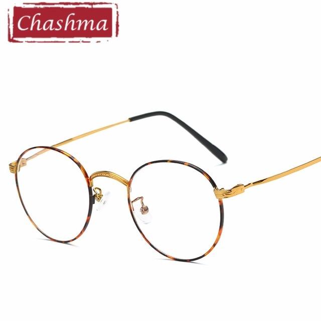 13e479c46a Chashma Men Fashion Reading Eyeglasses Optical Glasses Frames Glasses Women  New Round Frame Clear Lens Ultra Light Frame