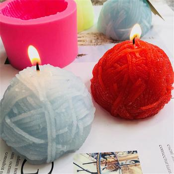 Round wool Shape Candle Mold Creative Screw Kids Prop Handmade Candle Mold Soap Mould Candle Form Silicone Mould S3