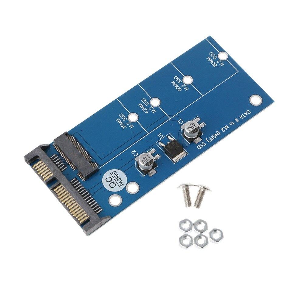 M2 NGFF SSD SATA3 SSD SATA adaptador de tarjeta de expansión SATA a NGFF convertidor
