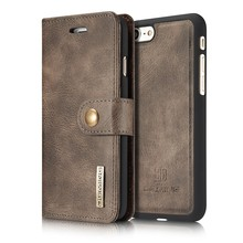Merk Originele Luxe Flip Leather Case Voor Apple Iphone 5 Se 6 7 8 Plus X Xs 11 12 Pro max Xr Verwijderbare Back Cover Retro Portemonnee