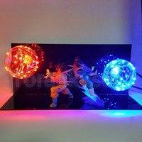 Dragon Ball Z Figura de Ação Goku vs Vegeta Combate Flash Bola DIY Exibição Brinquedo Dragonball Goku Super SaiyanDBZ DIY121
