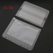 A5/A6 ПВХ Папка Держатель на молнии низкий профиль стиль спираль план сумка для хранения файлов карты пакет
