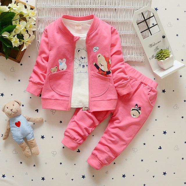 2016 nueva ropa del bebé ropa de bebé neutral con capucha de algodón de manga larga T-shirt + pants ropa de bebé bebé de la manera traje