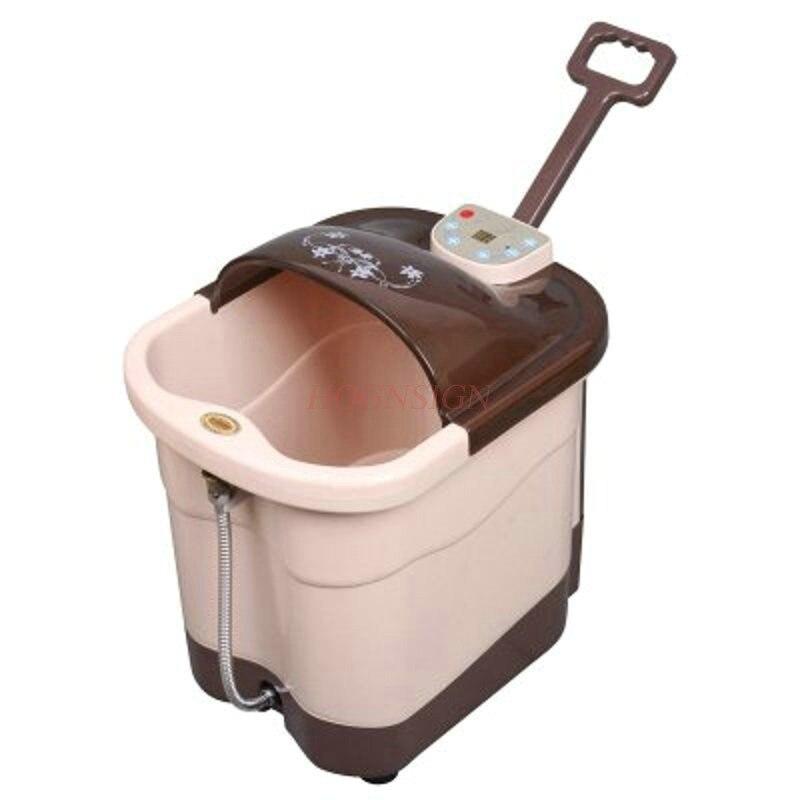 все цены на Electric Feet Cleansing Automatic Foot Bath Footbath Massage Heated Deep Basin Electronic Leg Wash Barrel Plantar Clean онлайн