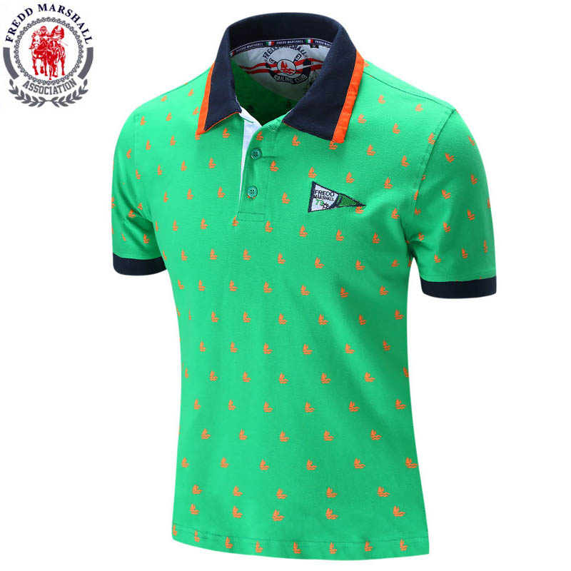 Fredd Marshall 2017 Summer Mens   Polo   Shirt Brands Clothing Solid Slim Fit   Polo   Men Short Sleeve Casual Cotton   Polo   homme